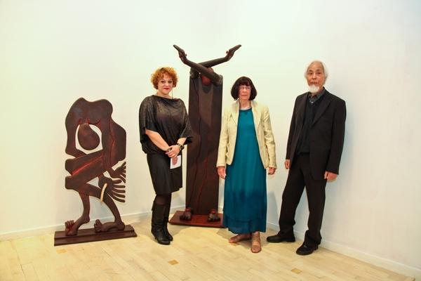 Nataša Popović s Ursulom i Seijijem Kimotom