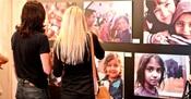 "Dio postava izložbe ""Dva lica romske stvarnosti"""
