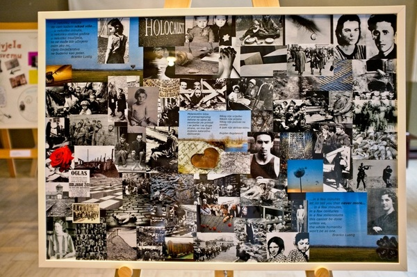 "Plakat pod nazivom ""Holokaust - nikada više"""