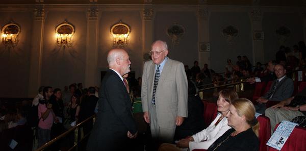 Izraelski veleposlanik Shmuel Meirom i Branko Lustig na 2. JFF-u